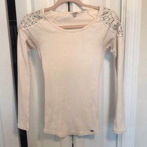 Guess waffle top with glitz detail